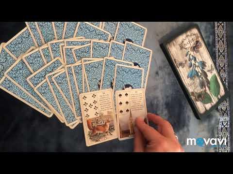 Blue Bird Lenormand/голубая птица Ленорман. Таро, оракулы. Перевод. Лиса