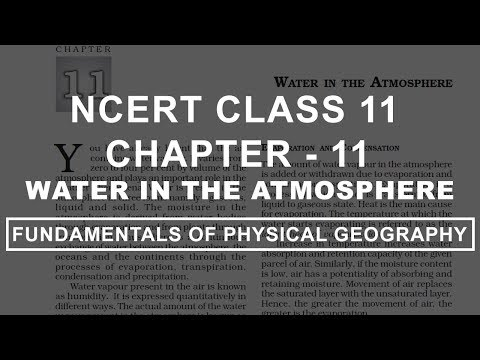 Water in the Atmosphere - Chapter 11 Geography NCERT Class 11