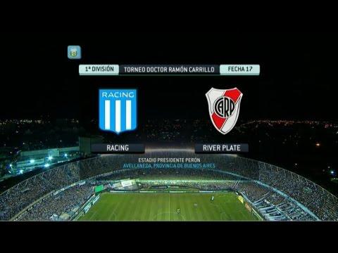 Fútbol en vivo. Racing - River Fecha 17. Torneo Primera División 2014. FPT.