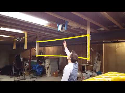 Homemade DIY Basement Volleyball Swing Trainer