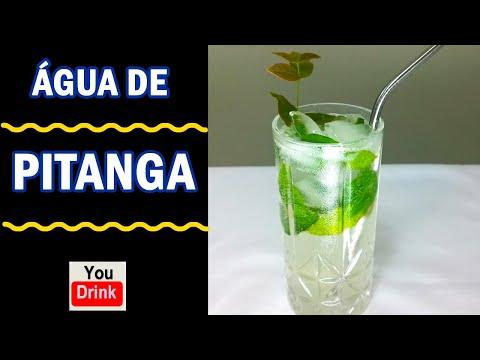 ÁGUA DE PITANGA - Coquetel refrescante feito com folhas de pitanga. Pode ser com ou sem álcool!