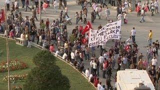 Turkey protests over Kurdish death come to Taksim Square