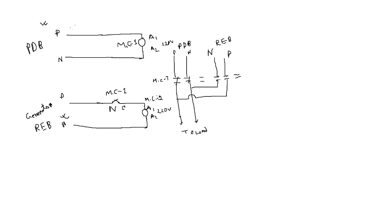 Auto change over switch without relay diagram  YouTube