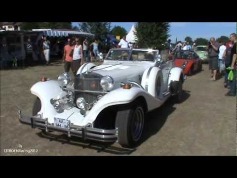 Excalibur phaeton serie 04 (IV) car (roadster) in motion, sound very beautyfull neo-retro auto,