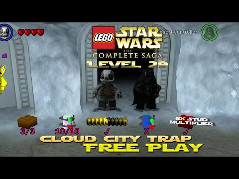 Lego Star Wars TCS: Ep 5 Chap 5 / Cloud City Trap FREE PLAY (All Collectibles) - HTG