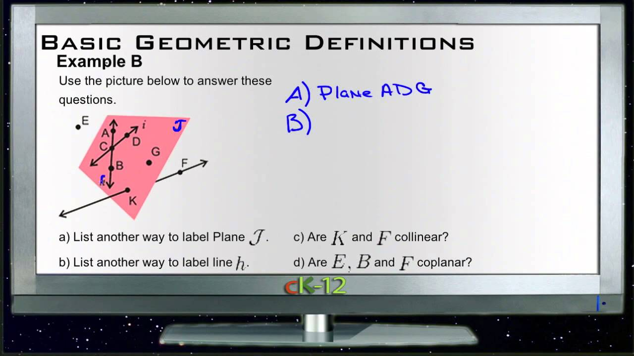 Basic geometric definitions: examples (basic geometry concepts.