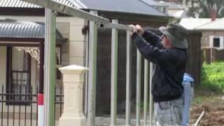 "'ausbrush' Brushwood Fencing Installation - ""inline Method"""