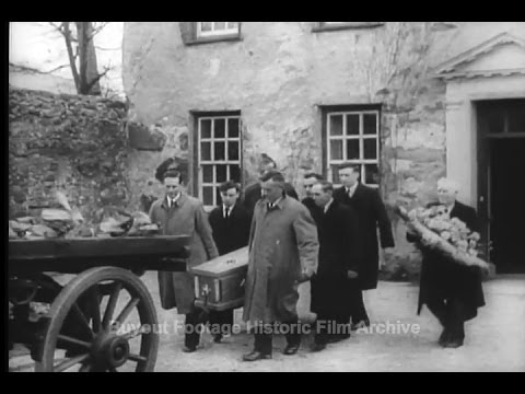 Historic Archival Stock Footage WWII - Last Rites For Welsh Politician David Lloyd George