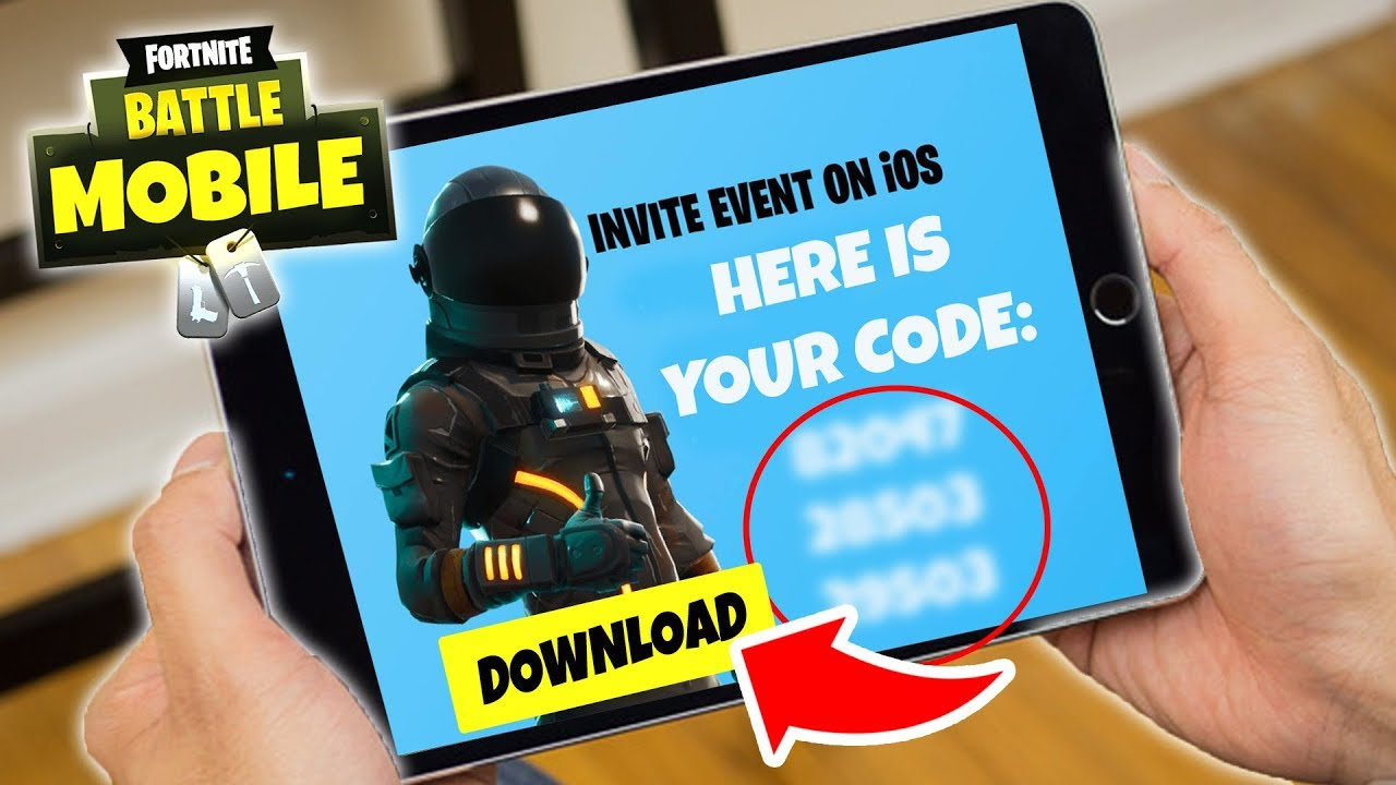 fortnite mobile invite