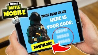 FORTNITE Mobile INVITE CODES DOWNLOAD !!! (iOS/iPhone/iPad/Android)