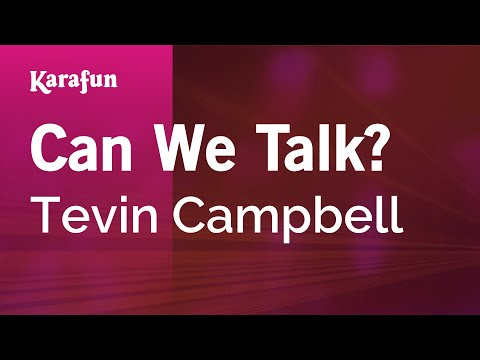 Karaoke Can We Talk? - Tevin Campbell *