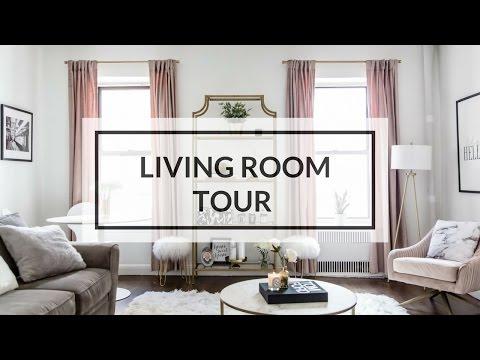 LIVING ROOM TOUR  | NYC APARTMENT TOUR 2017
