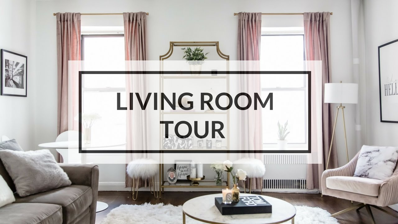LIVING ROOM TOUR | NYC APARTMENT TOUR 2017 - YouTube