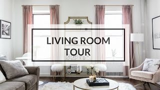 LIVING ROOM TOUR  | NYC APARTMENT TOUR 2017