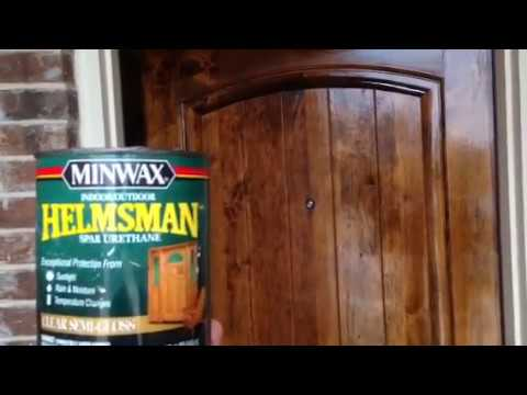 Front Door Stain Maintenance And Spar Varnish Protectant