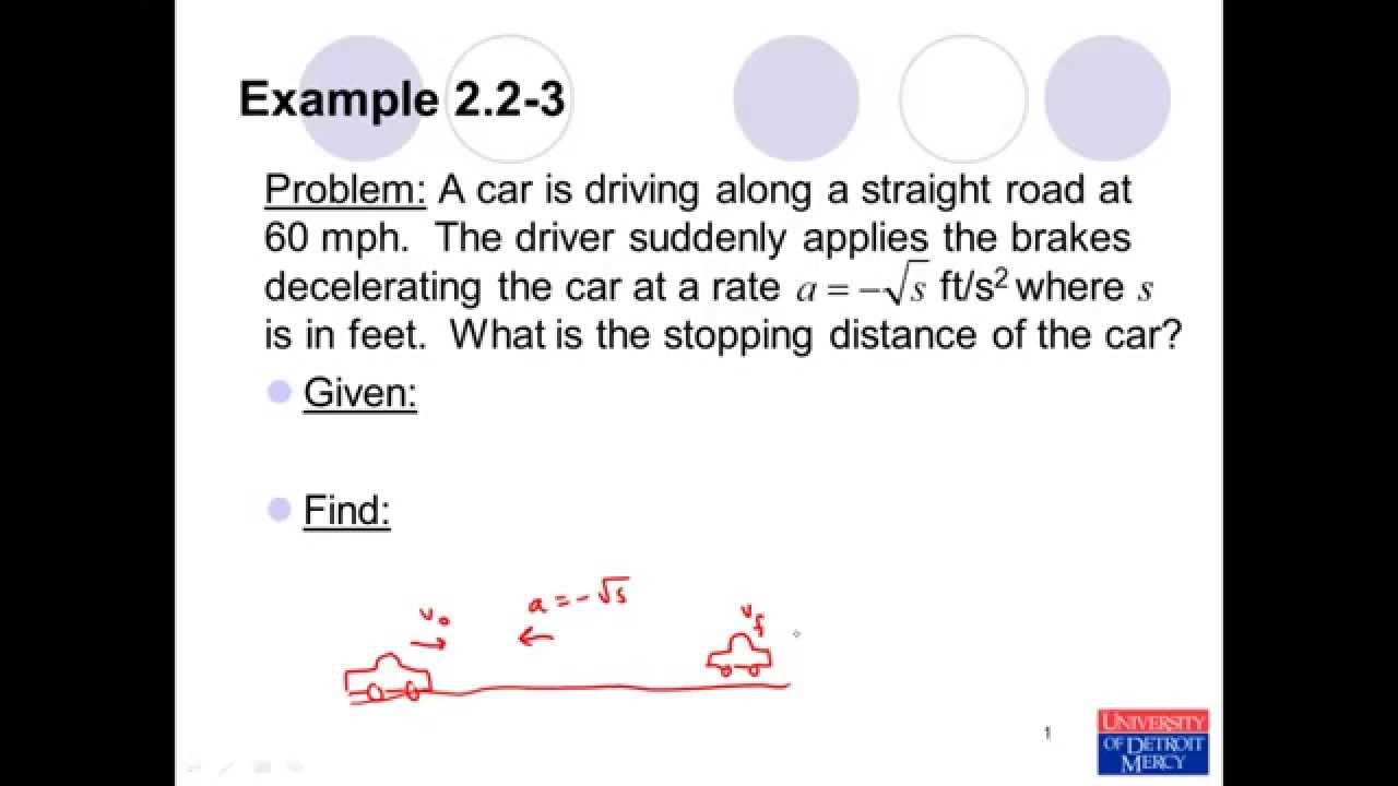 Conceptual Dynamics Example Problem 2 2 3 Rectilinear
