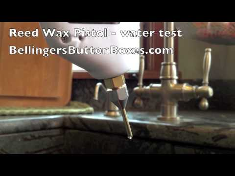 Bellinger Reed Wax Pistol for waxing accordion reeds (water test)