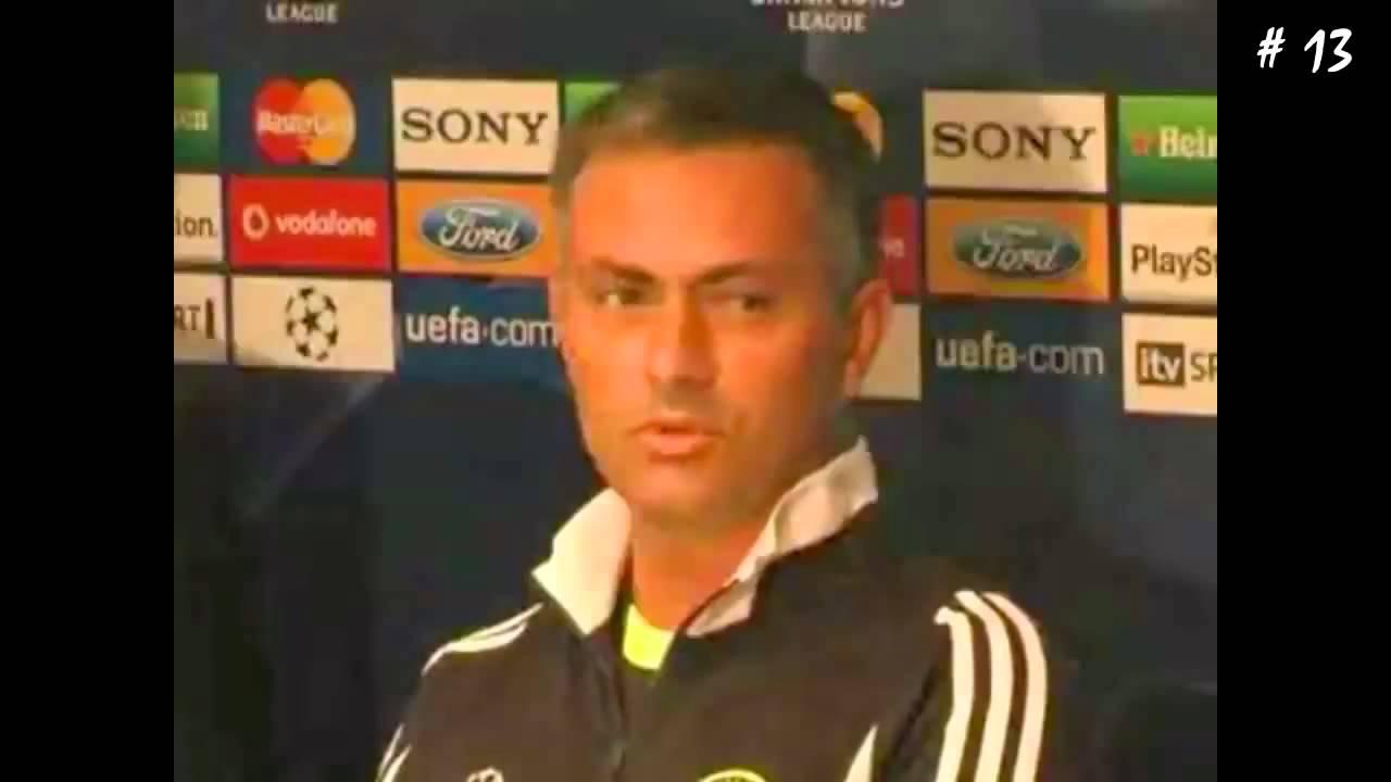 Hài bóng đá ★ Jose Mourinho 25 Funny Moments - YouTube