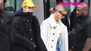 Justin Bieber & Hailey Stop For Drinks At Cha Cha Matcha After Dropping I Don't Care With Ed Sheeran