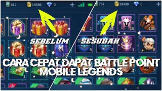 CARA CEPAT MENDAPATKAN BATTLE POINT MOBILE LEGENDS !!! CUMA 5 MENIT CUY !!! VIDEO CHEST HACK BP