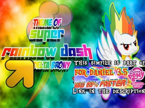 Super Rainbow Dash Theme [AA]