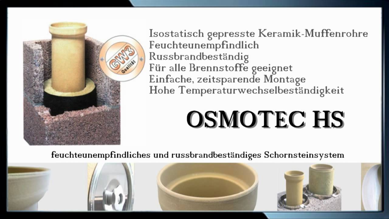 schornstein osmotec hs komplettsystem von franke baustoffe youtube. Black Bedroom Furniture Sets. Home Design Ideas