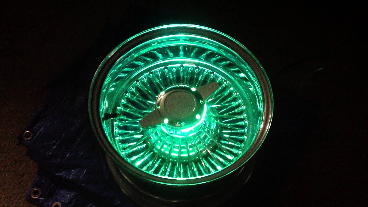 Night glow wire wheel lights - YouTube