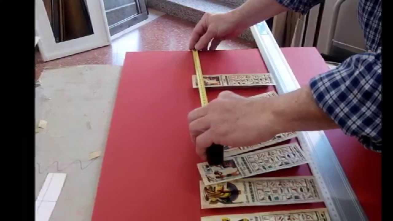 Cómo enmarcar unos papiros egipcios - YouTube