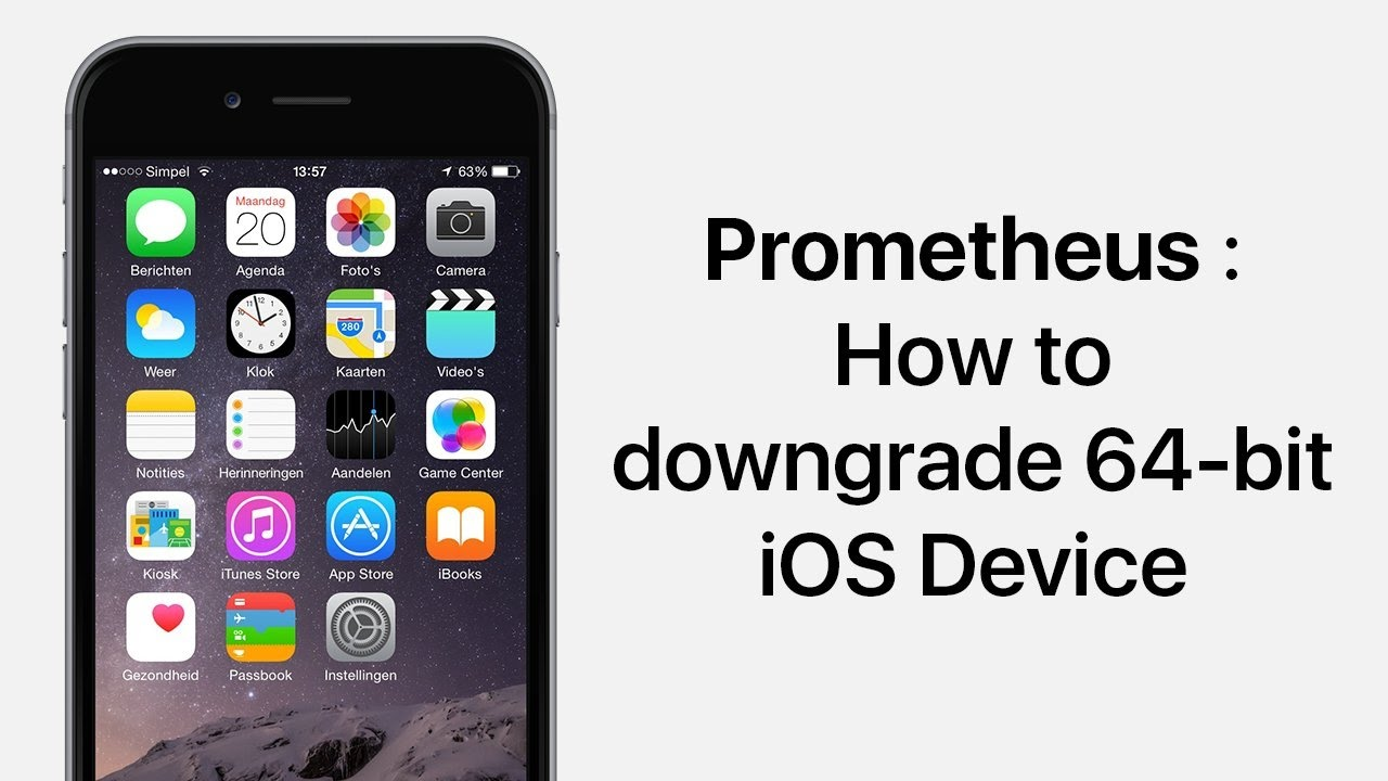 Downgrade / Upgrade to Any Unsigned iOS Version Using Prometheus