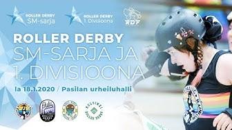 Roller derby - SM-sarja & divari - Pasila 18.1.2020