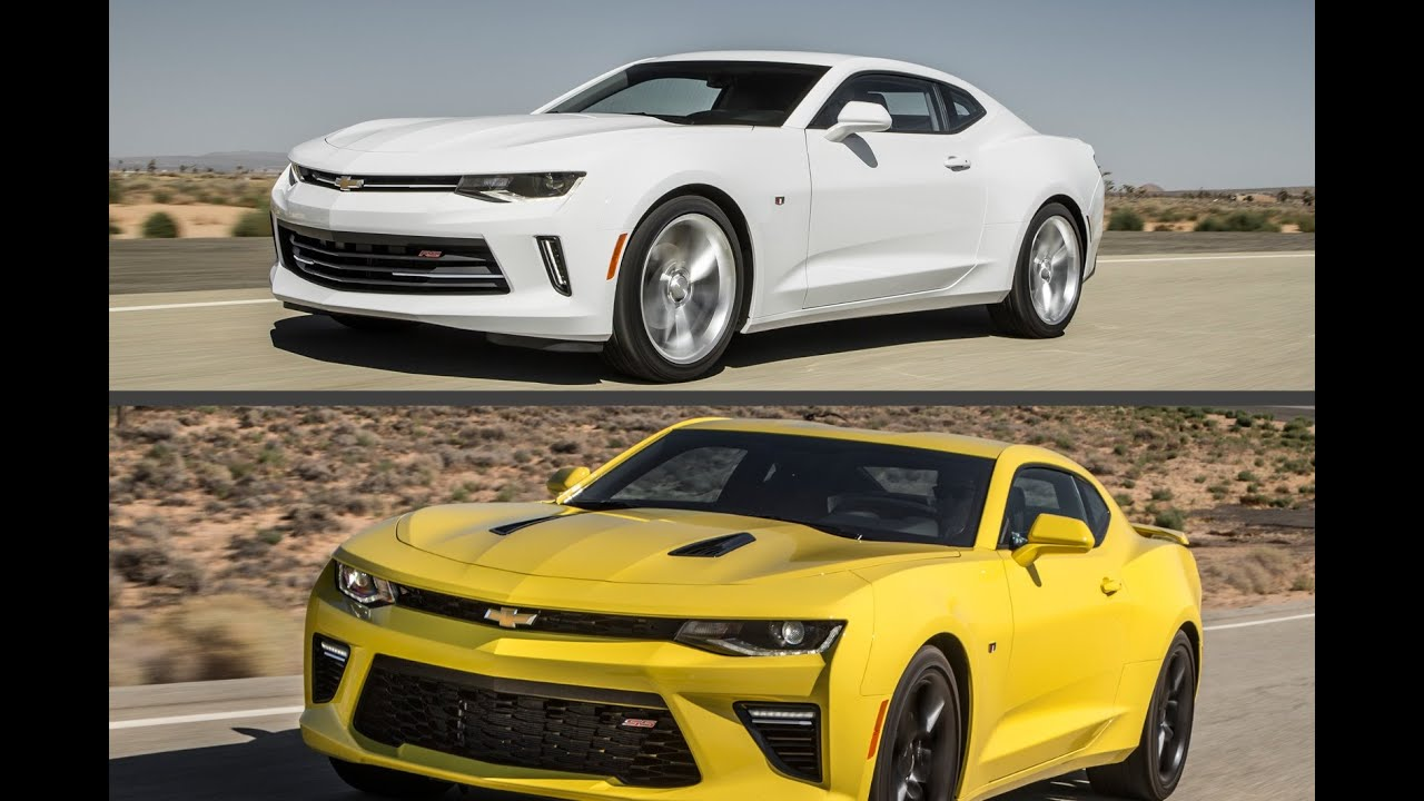 Camaro chevy camaro ss rs : 2016 Chevrolet Camaro RS V6 vs 2016 Chevrolet Camaro SS V8 - YouTube