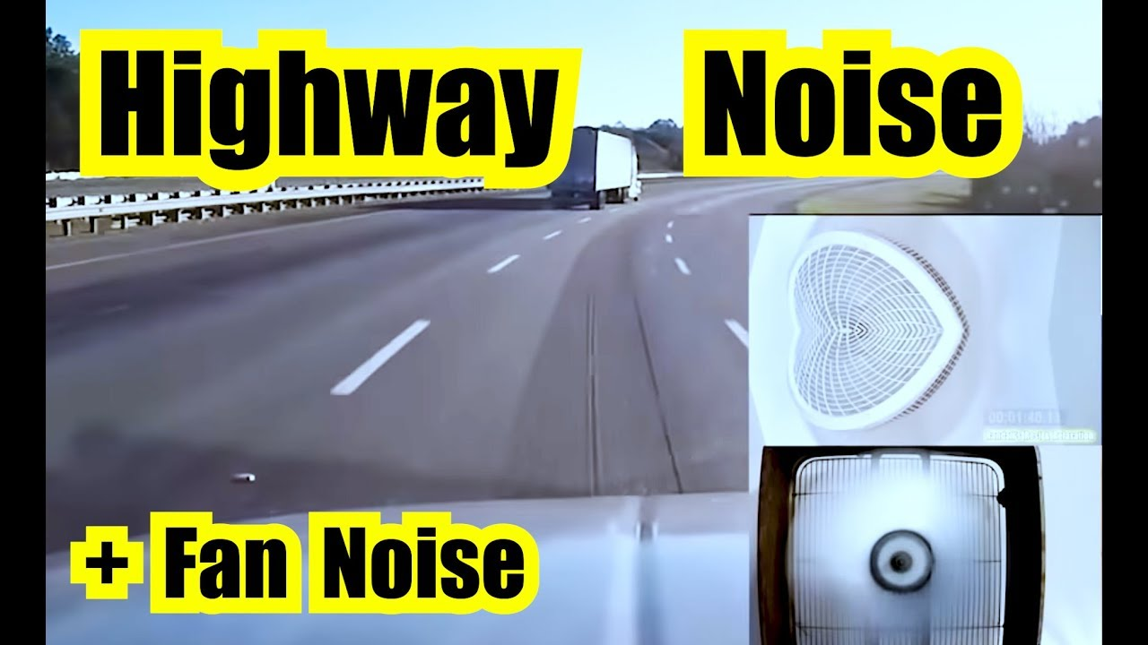 10 HOURS of HIGHWAY DRIVING ENGINE SOUND EFFECT + FAN NOISE = CAR RIDE  HIGHWAY NOISE