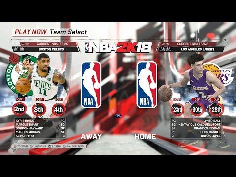 NBA 2K18 Gameplay Boston Celtics Vs Los Angeles Lakers Best Play PS4 HD