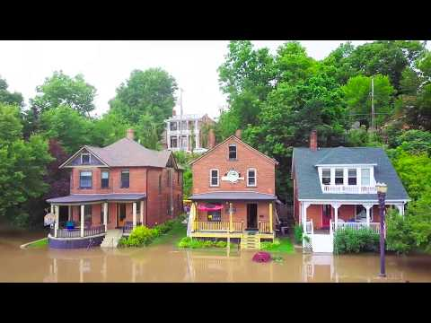 Galena Illinois River Flood Gates Closed - July 22, 2017