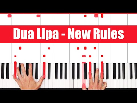 New Rules Dua Lipa Piano Tutorial - INSTRUMENTAL