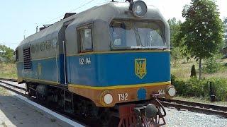 Дизель танка внутри локомотива ТУ2 144, моторный отсек тепловоза ДЖД Запорожья(Внутри локомотива ТУ2-144 стоит дизельный двигатель типа 1Д12, который изначально был дизелем от танка - не..., 2014-11-28T12:48:13.000Z)