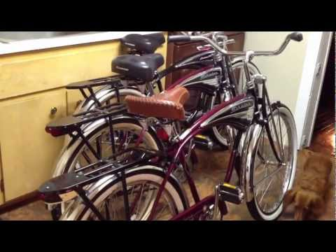 3be77f8afe1 Schwinn Cruiser Deluxe and Classic Cruiser 1995 100th Anniversary Edition  x3 - YouTube