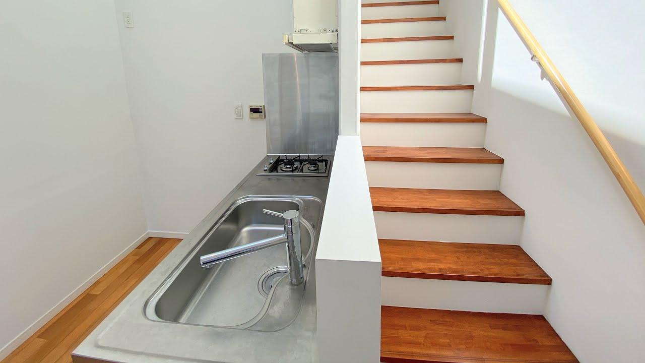 開放感がすごいスケスケお風呂付きデザイナーズ1SLDKのテラスハウス【一人暮らしと言うよりオフィスっぽいお部屋】
