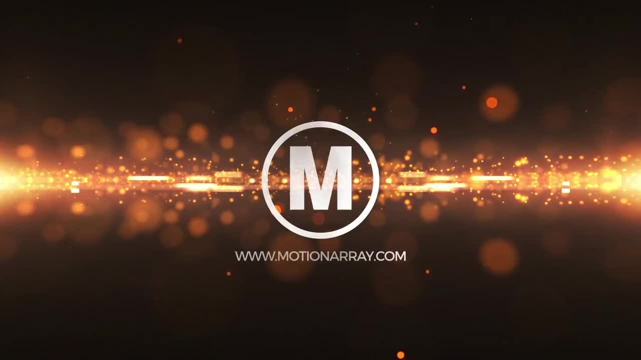 Glitter Particles Logo After Effects Templates