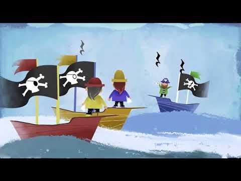 Los piratas y el tesoro, Canción infantil y cuento