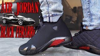 Air Jordan 14 Black Ferarri Review And On Foot In 4k Youtube
