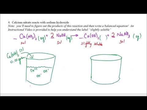 #21--Modeling Behavior Of A Slightly Soluble Salt Calcium Hydroxide