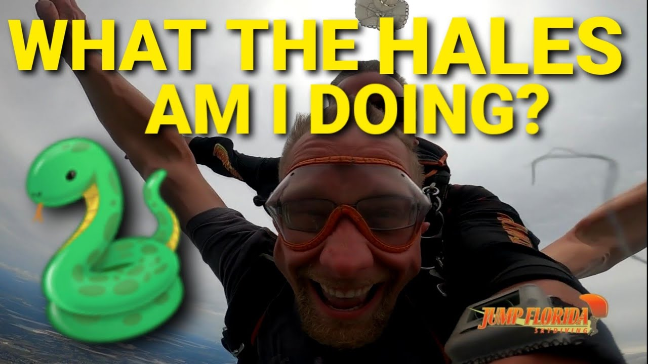 What the Hales is more DANGEROUS, Sky Diving or Python Hunting? Unbelievable Fun in Florida!