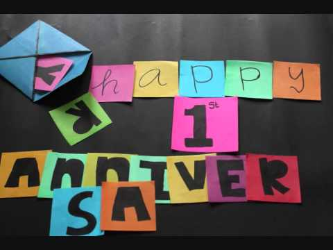 Happy st anniversary stop motion youtube