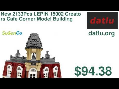 New 2133Pcs LEPIN 15002 Creators Cafe Corner Model Building Kits Minifigure Blocks Kid Toy Gift Co