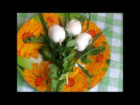 Салат - закуска  Белые тюльпаны
