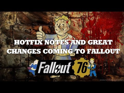 Fallout 76 HotFix Incoming, Weapon adjustments, and more!! thumbnail
