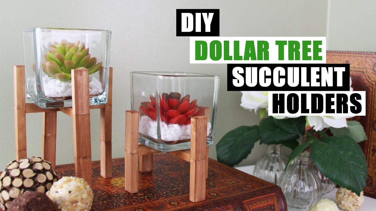 Home Decor Project Youtube: DIY DOLLAR TREE SUCCULENT HOLDERS DIY Home Decor