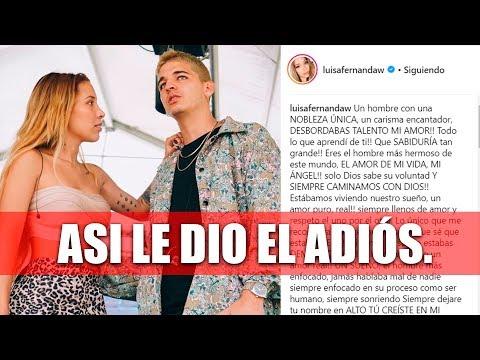Adiós, Legarda 1989-2019   Así se despidió Luisa Fernanda W de él.
