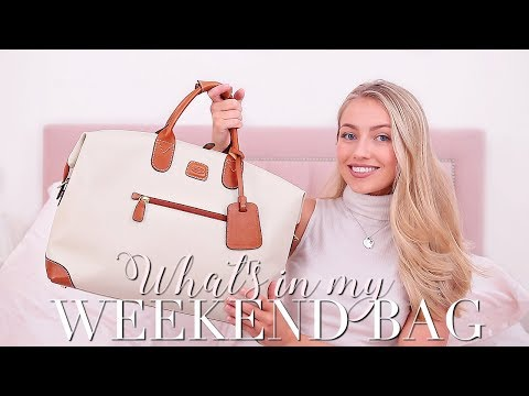 WHAT'S IN MY WEEKEND BAG- How to pack for a weekend away! ~ Freddy My Love